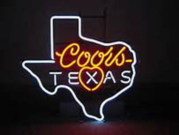 "Texas Coors Light Neon Sign Beer Bar KTV Club Pub Custom Handcrafted Real Glass Tube Advertisement Display Neon Signs 16""X16"""