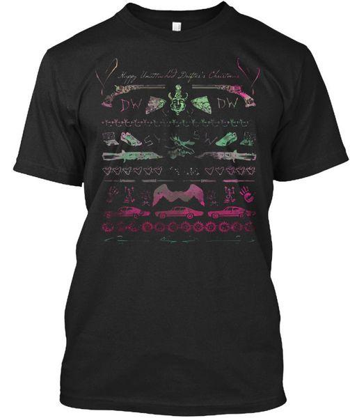 Bağlanmamış Drifter Noel Kazak Standart Unisex T-Shirt