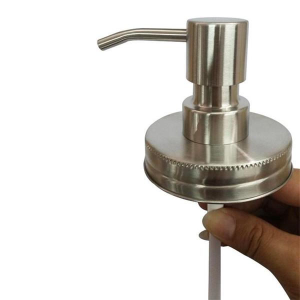 Dispensador de jabón de mano Diy Bomba de piezas de acero inoxidable Estilo tarro de masón Jabón de sobremesa Dispensadores de loción Boquilla polaco Práctico 7 5hx gg