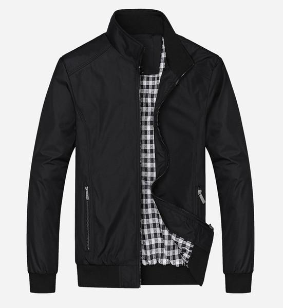 Yeni 2017 Casual Ceket M-5XL 6XL 7XL Erkekler Bahar Sonbahar Giyim Mandarin Yaka Giyim ünlü marka ceket Casacos de homem