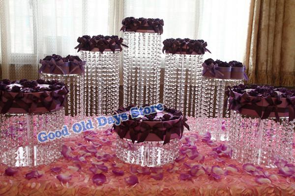 8pcs Acrylic Cupcake Cake Round Cupcake Holder Stand for Wedding Birthday Decor Cake Stand Cupcake Pan cake display dish holder