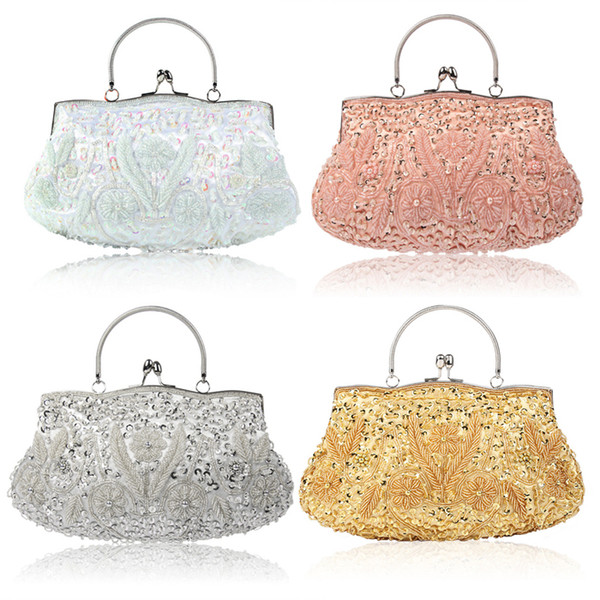 Wedding Clutches Bridal Handbags Wedding Bags Totes Clutches Beaded Handbag Grey Handbags Handbags Online Shopping From Maya21 18 1 Dhgate Com