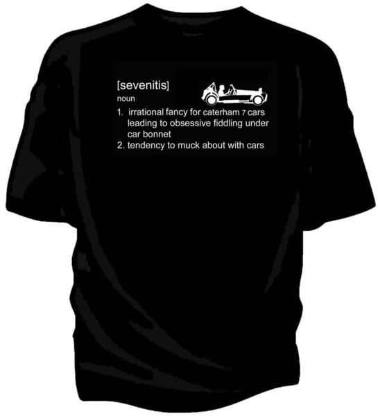 Details zu Caterham Lotus Seven 7 Oldtimer T-Shirt - 'Sevenitis' Definition Lustiges Gratis Versand Unisex Lässiges Geschenk