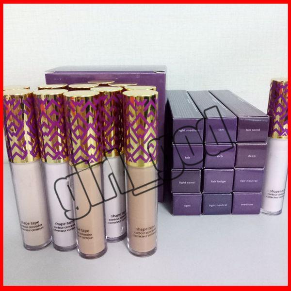 Top Quality New Shape Tape Concealer Contour 12 Colors Fair Light Light Medium Medium Tan Light Sand 10ml 12 Colors concealer