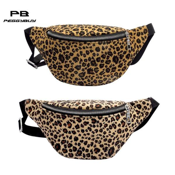 Women Men Shoulder Bag Leopard Waist Fanny Chest Belt Packs Crossbody Bags