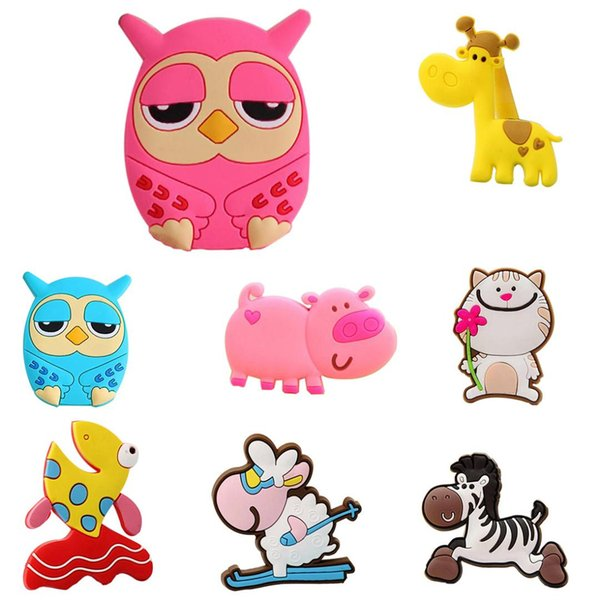 Useful Giraffe Owl Cat Pig Fish Sheep Fridge Magnets for Kids Small Size Silicon Gel Magnetic fridge Magnet Animal Magnets