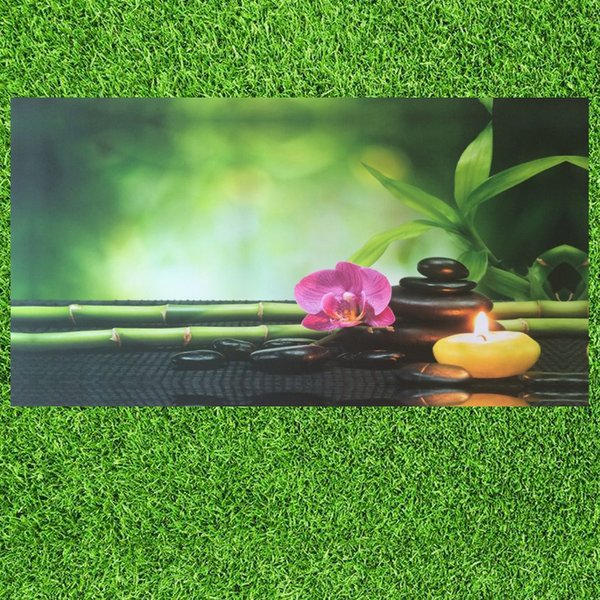 HD Print Modern Orchid Zen Spa Stone Bamboo Landscape Oil Painting on Canvas Art Poster Wall Art Picture for Living Room Decoration