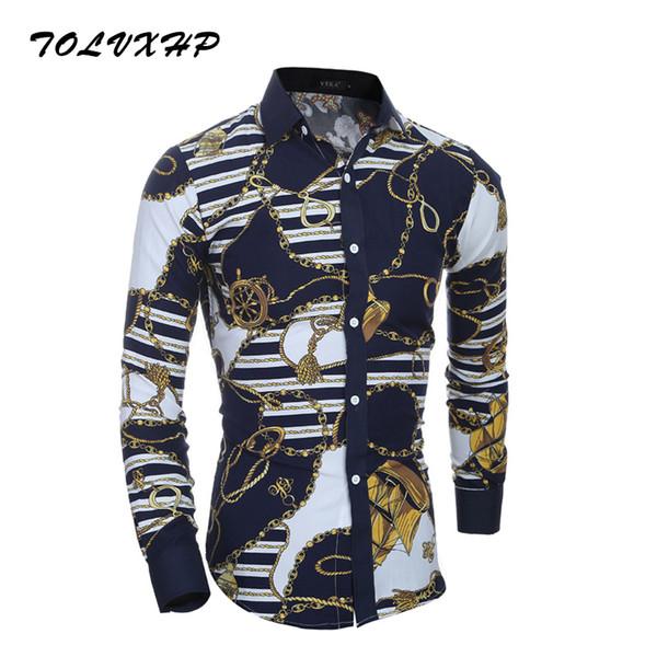56fcd6c7715 TOLVXH 2018 New Fashion Brand Men Shirt Classic Retro Shirt Long Sleeve Slim  Fit Camisa Masculina Casual Male Shirts Model White