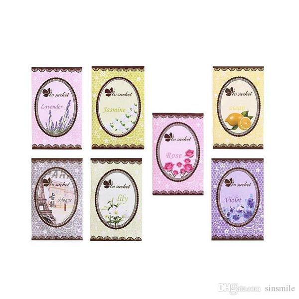 Wholesale- Scented Fragrance Home Wardrobe Drawer BedRoom Perfume Bags Deodoriser Sachet 7Pcs/pack