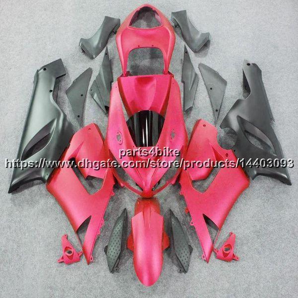 23colors + 5Gifts Motocicleta de plástico ABS rosa Carenado para Kawasaki ZX6R 2005-2006 ZX-6R 05 06 ZX 6R paneles de motocicleta