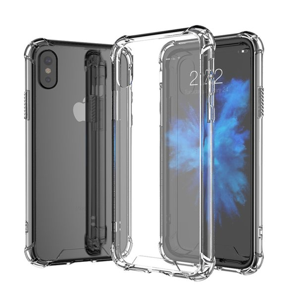 Clear Back Case For iPhoneX Slim Cover Bumper Corner Cushion Shockproof Cell Phone Case Shell For Samsung j730 j510 Nokia2 ZS620KL A6000
