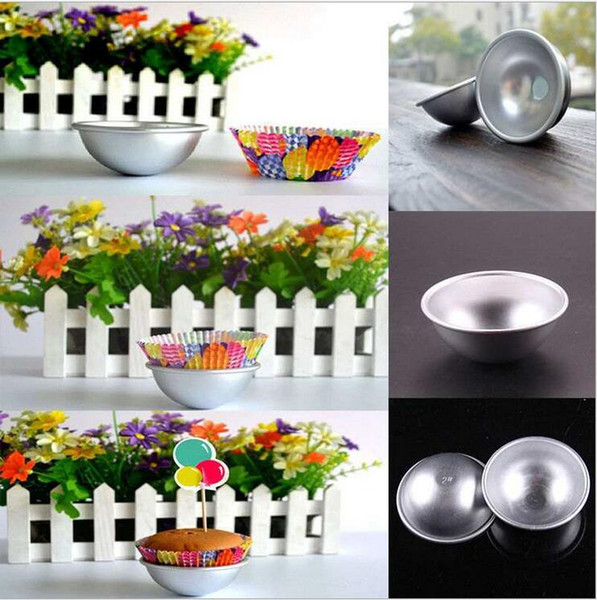 3D Aluminum Alloy Ball Sphere Bath Bomb Mold Cake Baking Pastry Mould 300pcs/lot Free Shipping By DHL TNT SF UPS
