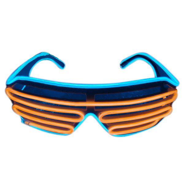 Gafas de sol LED Parpadeante EL Alambre Luminoso Iluminar Neon Gafas Disfraces Fiesta Decorativa Iluminación Activa Props Regalos B