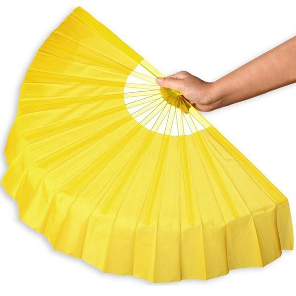 20pcs/lot Chinese Style 41cm Folding Plastic Frame Silk Dance Hand Fans Event Party Wedding Favors Gifts Free Shipping ZA4203