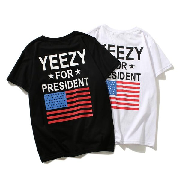 summer harajuku hip hop Fashion tide brand justin bieber High quality Street flags stamp fear God short sleeves Lovers clothing Free freigh
