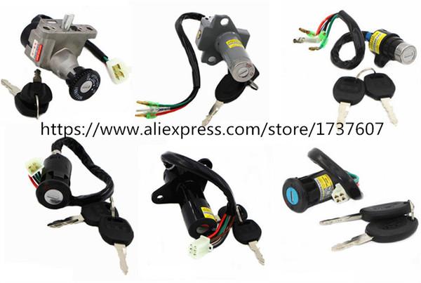 1 pz moto power battery lock lock interruttore a pedale chiave della bicicletta elettrica porta elettrica Media per CG125 GS125 GN125 JH 90