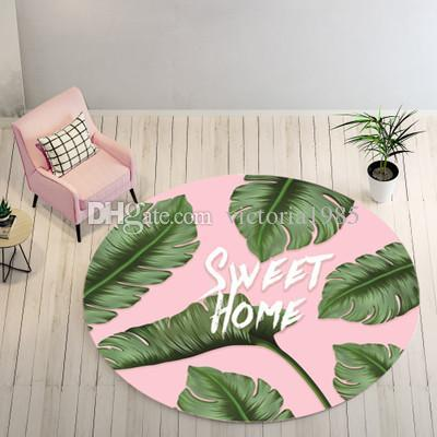 80*80cm Round Carpet Home Decoration Nordic Style Carpets for Living Room Non-Slip Round Rug Computer Chair Mat Kids Game Mat