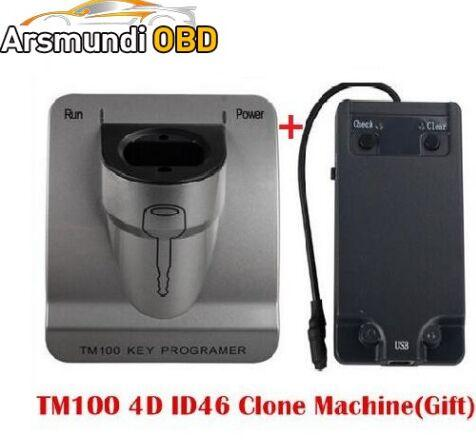 New Release V3.48 TM100 Transponder Key Programmer + ID46 Cloner Program ,Car Key programming machine TM 100 KEY COPY TOOL