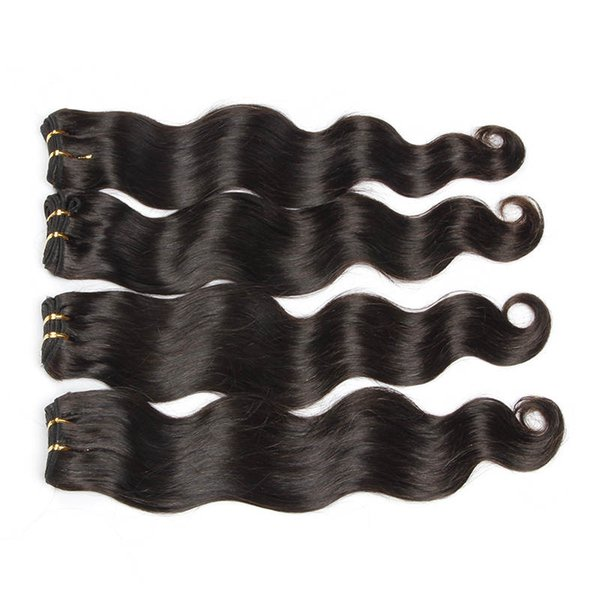 #1 Jet Black Color Brazilian Body Wave Hair Extension 100% Human Remy Hair Weave 6a Unprocessed Virgin Hair Extensions