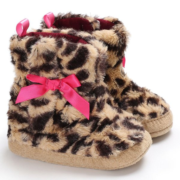 Leopard Print Baby Shoes Snow Boots Newborn Boys Girls Gifts Moda confortevole carino