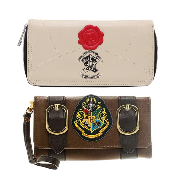 Official Harry Potter Letter Zip Around Walle Woman Wallet Short bi-hand pu money bag mobile phone holder S915