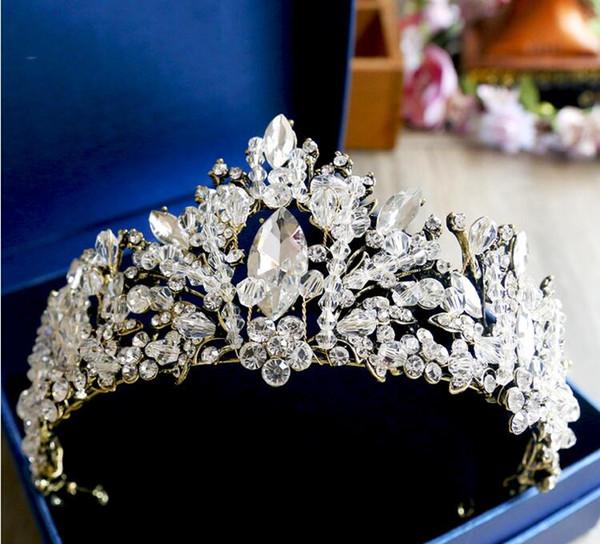 Кристалл волос орнамент бронзовый античный барокко корона Алмаз аксессуары