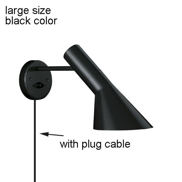 black, large size, with plug