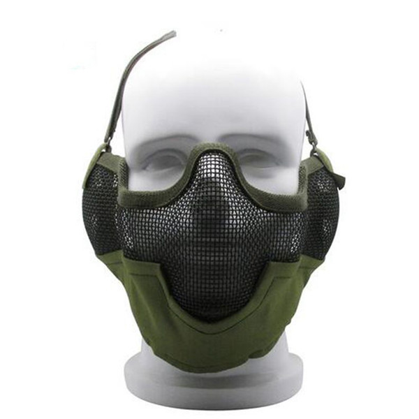Tactical Airsoft Mask V2 Metal Steel Net Mesh Camouflage per la caccia Shooting Paint ball Accessori