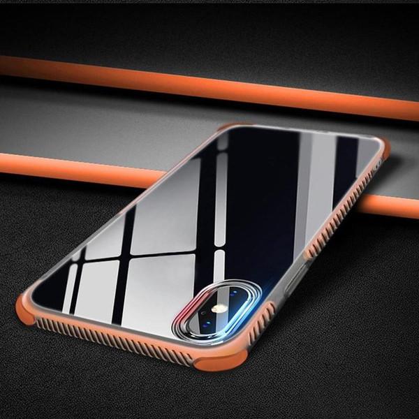 Гибридный двойной слой ТПУ 2 в 1 защитный чехол для iPhone Х 8 7 6 6 S плюс конфеты цвет ТПУ + TPE противоударный чехлы