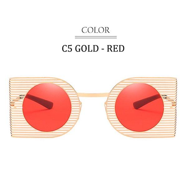 C5 Gold Frame Red Lens