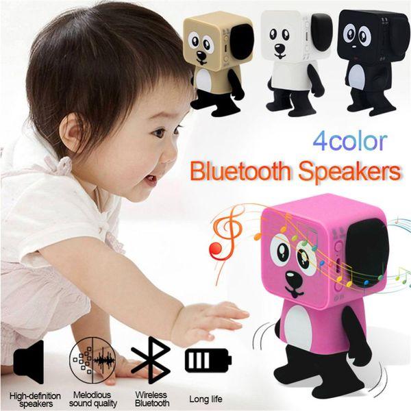 Portable Robot Dog Bluetooth V4.1 Speaker Mini Wireless Handsfree Stereo Dancing Robot Speaker for Kids Cute Children Toy