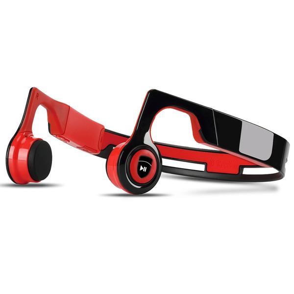 Open Ohr Knochenleitung Kopfhörer Wireless Sports Headset Bluetooth Kopfhörer Wasserdicht Stereo Sound HD Eingebautes Mikrofon (Schwarz + Rot)