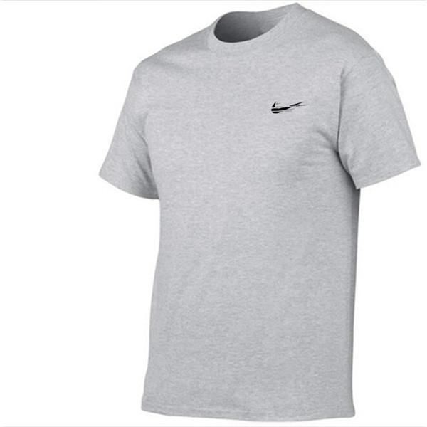 2017 Nueva Marca Para Hombre Camisetas Verano 100% algodón Camisetas de Manga Corta ocasional Camisetas Masculinas Camiseta Homme Plus Size XS-2XL
