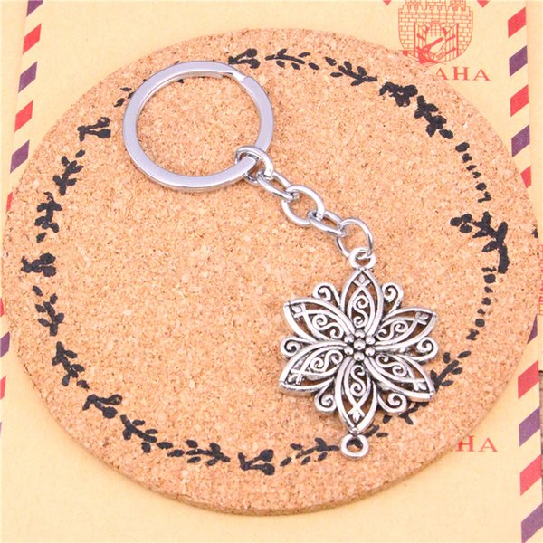 Keychain flower connector Pendants DIY1 Men Jewelry Car Key Chain Ring Holder Souvenir For Gift