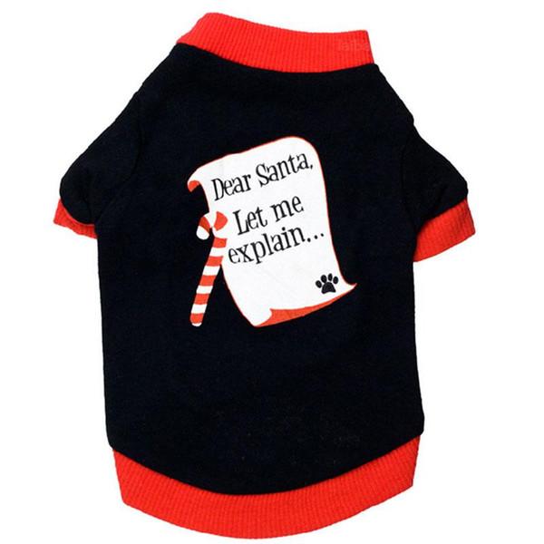 Dog clothes t-shirt chihuahua Pet coat to christmas letter Dear santa let me explain pet dog clothes coat For Medium Small Dogs