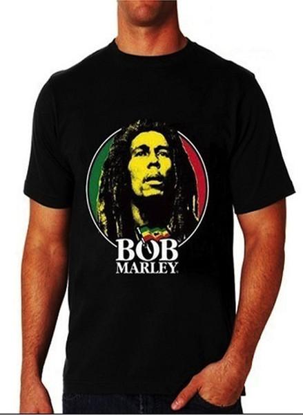 2018 neue Sommer Männer heißer Verkauf Mode Männer Bob Marley Gesicht Tri-Farbe Rasta T-Shirt in Größe S zu 3XLSleeve T-Shirt Homme