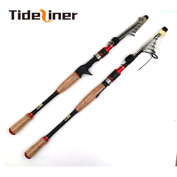 2.1m 2.4m 2.7m telescopic spinning casting fishing rod lure baitcasting rod fishing ML M 6 sections carbon fiber fishing pole