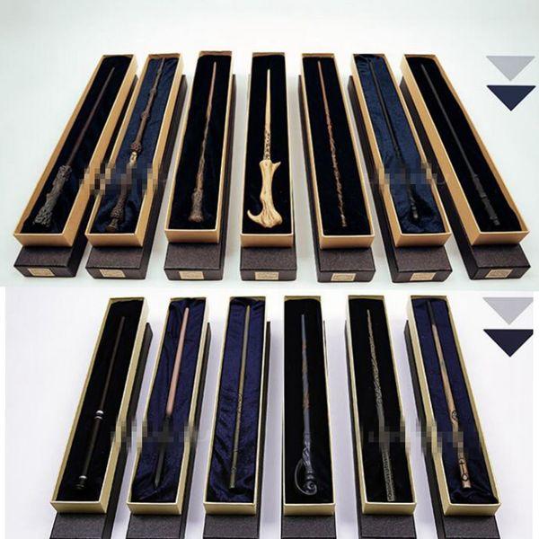 13 conception en métal noyau Harry Potter baguette magique avec boîte cadeau enfants baguette Jouets Harry Potter cosplay baguette magique KKA4851