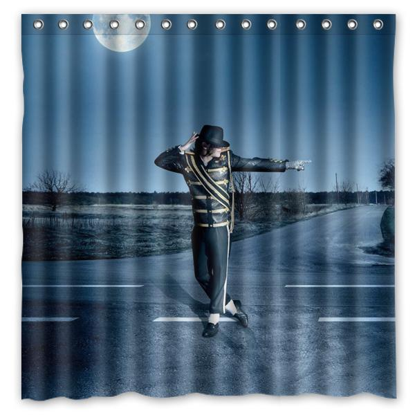 Acquista Tenda Da Doccia Design Michael Jackson 01 Dimensioni Doccia 180 X  180 Cm Tende Da Doccia In Tessuto Poliestere Personalizzate A $25.13 Dal ...