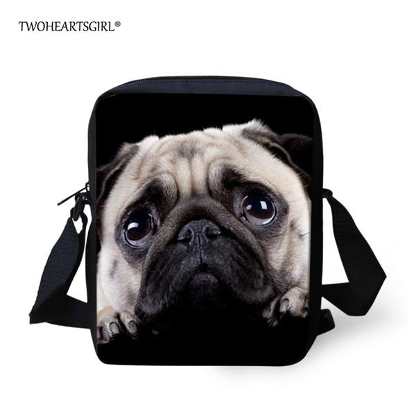 Twoheartsgirl Cute Puppy Pug Dog School Bag for Kids Small Kindergarten Baby Schoolbag Mini Children Girls Bookbags