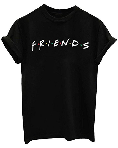 MISSATTIVER Friends TV Show T Shirt da donna unisex Junior Top T-Shirt Teenager Graphic Tees Estate Casual Maglietta Allentata