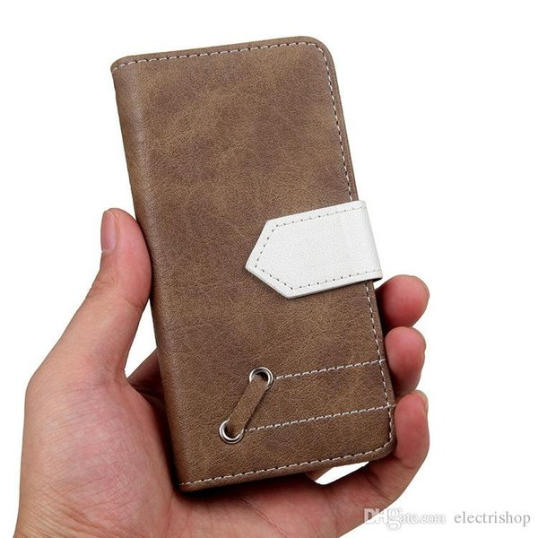 Brand new Retro crash leather cover Flip phone cover protective Case Kickstand PU Wallet For Samsung for iphone phone case new arrival