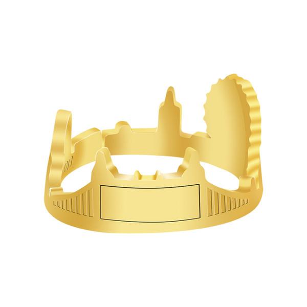 whole saleLondon Cityscape Skyline Rings For Women Fashion Jewelry Stainless Steel Modern Architecture Eye Bridge Ring Anel Feminino