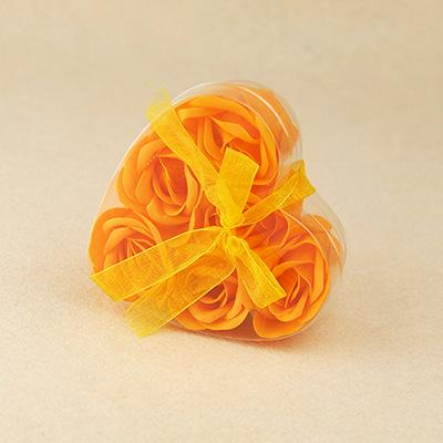 6pcs orange flower