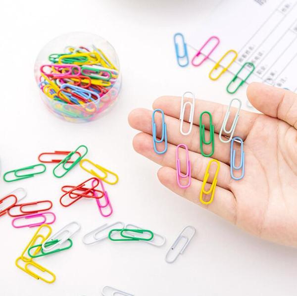 Clipes de papel de metal a laser notas de memorando classificados clipes crianças estudante papelaria escola material de escritório 50 pçs / set