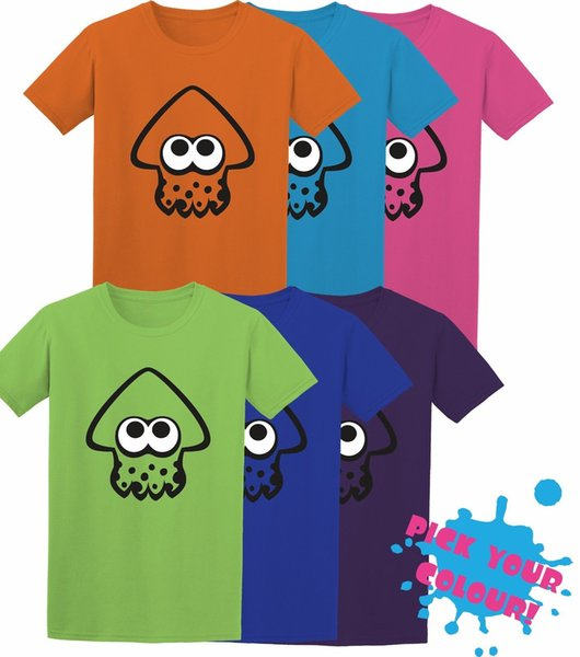Details zu Inkling Squid Splatoon Switch Game Inspired Kids Adult T-Shirt -MULTIPLE COLOURS Funny free shipping Unisex Casual tee gift