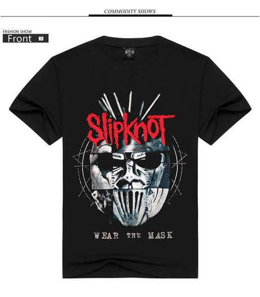 Explosion models fashion brand slipknot slip band shirt 3D printing high quality Korean loose cotton T-shirt black S-3XL wholesale and retai