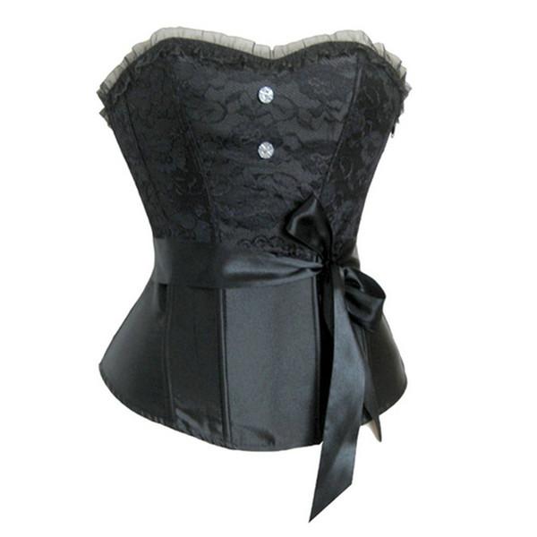 Fashion Corset Underbust Body Shaper Women Body Slimming Chest Harness Chest Compression Vest 5 Colors F0630 with Waist Belt Lace Decor.