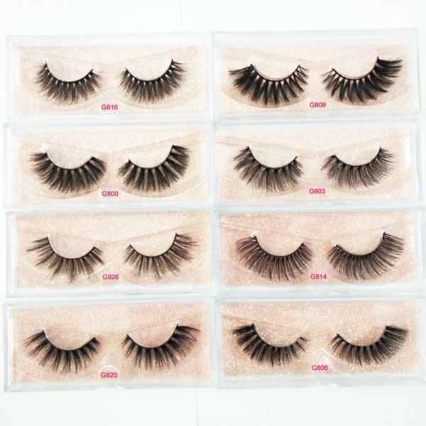 8cc4be5fb84 1 Pairs 8 styles 3D Real Mink Eyelashes Soft Mink Lashes Crossed Thick Eye  Extension Soft