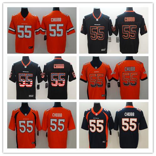 100% authentic 3ca13 0e4db 2019 2019 New Mens 55 Bradley Chubb Denver Broncos Jersey 100% Stitched  Embroidery Broncos Bradley Chubb Color Rush Football Jerseys Best Quality  From ...